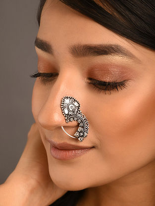 Silver Tone Tribal Nose Pin