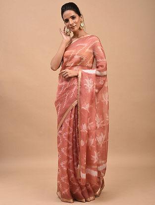 Pink Shibori Dyed Kota Silk Saree