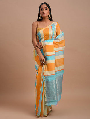 Multicolored Handwoven Chanderi Saree