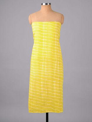 Lime Shibori Cotton Suit Fabric