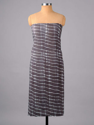 Grey Shibori Cotton Suit Fabric