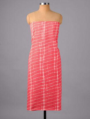 Pink Shibori Cotton Suit Fabric