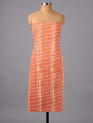 Peach Shibori Cotton Suit Fabric