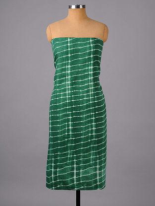 Green Shibori Cotton Suit Fabric