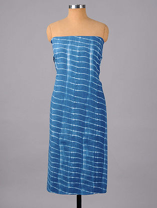 Indigo Shibori Cotton Suit Fabric