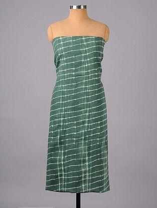 Grey-Green Shibori Cotton Suit Fabric