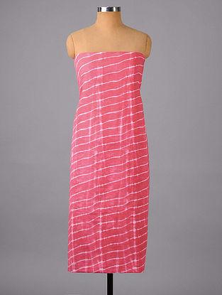 Fuchsia Pink Shibori Cotton Suit Fabric