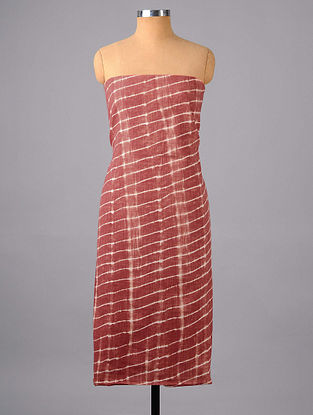 Maroon Shibori Cotton Suit Fabric