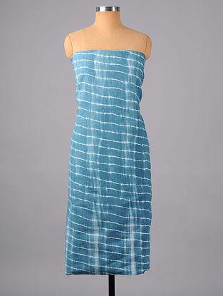 Blue Shibori Cotton Suit Fabric