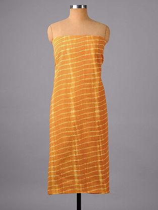 Light Brown Shibori Cotton Suit Fabric