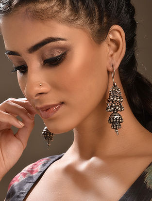 Vintage Silver Jhumki Earrings