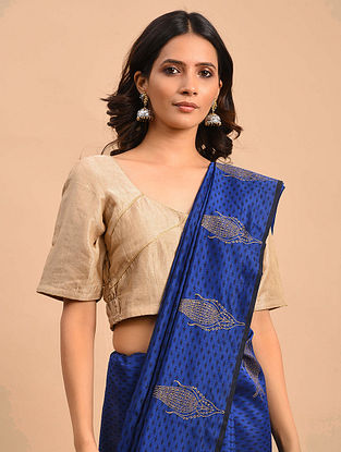 Beige Embroidered Chanderi Blouse