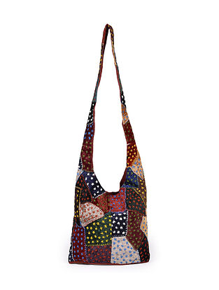 Multicolored Hand Embroidered Rayon Tote Bag