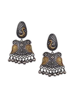 Dual Tone Tribal Earrings