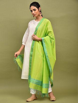 Green Handwoven Maheshwari Silk Dupatta