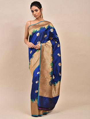 Blue Handwoven Benarasi Silk Saree