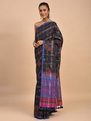 Multicolored Handwoven Jamdani Silk Khadi Saree