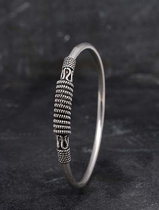 Tribal Silver Bangle (Size: 2/4)