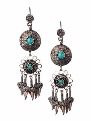Turquoise Tribal Silver Narrings