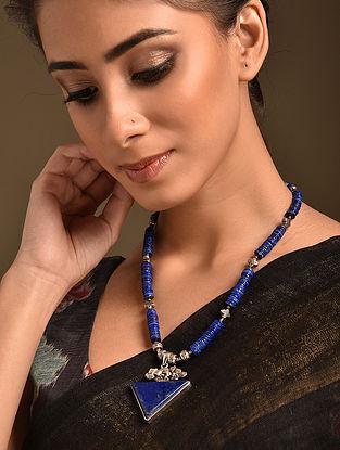 Lapis Lazuli Tribal Silver Necklace