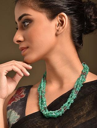Green Aventurine Tribal Silver Necklace