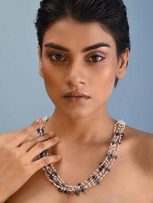 Classic Silver Necklace with Tanzanite