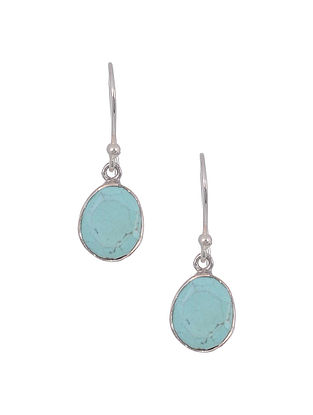 Classic Silver Earrings with Turquoise