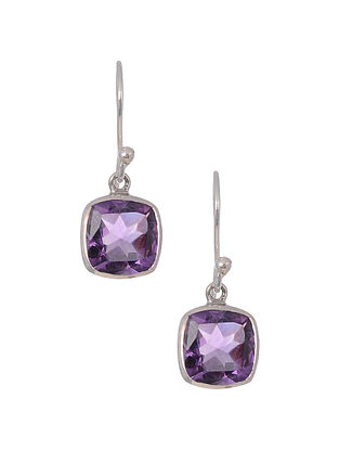 Classic Silver Earrings with Amethyst