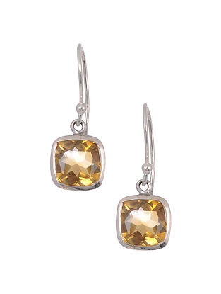 Classic Silver Earrings with Topaz