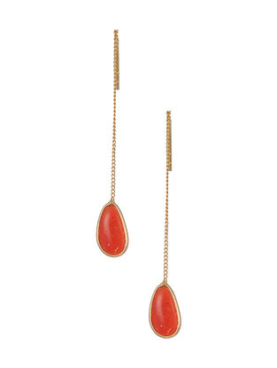 Classic Silver Earrings with Coral