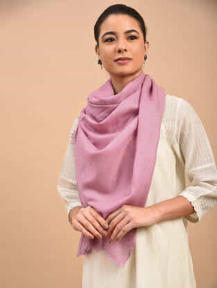 Pink Handwoven Pashmina Stole