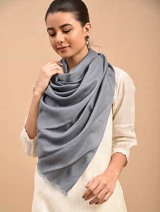 Grey Handwoven Pashmina Stole