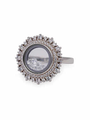 Tribal Silver Ring(Size: US 7)