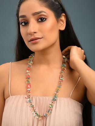 Multicolored Quartz And Rose Quartz Beaded Necklace