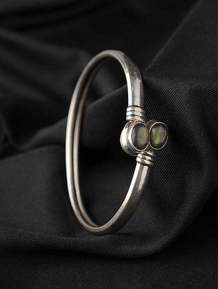 Tribal Silver Labrodite Bracelet (Size 2.6)