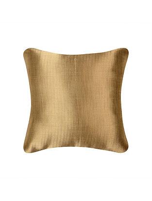 Gold Herringbone Tissue Brocade Silk Cushion Cover  (16in x 16in)