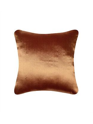 Dual Tone Twill Tissue Brocade Silk Cushion Cover (16x16)