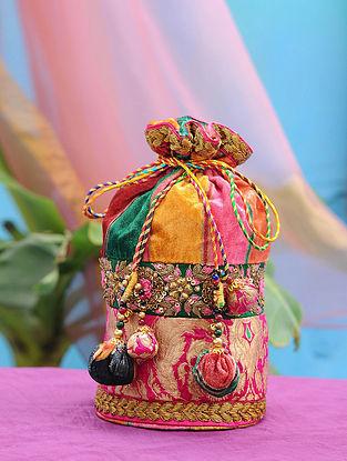 Multicolored Hand Embroidered Velvet Potli