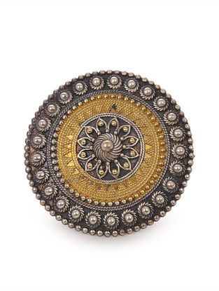 Dual Tone Tribal Adjustable Ring