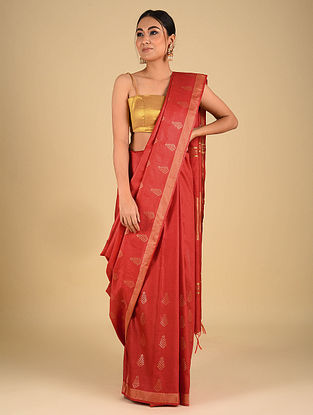 Red Handwoven Kota Silk Saree