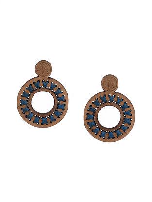 Blue Brown Handcrafted Earrings