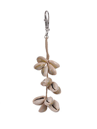 Cream Handcrafted Keychain With Shells