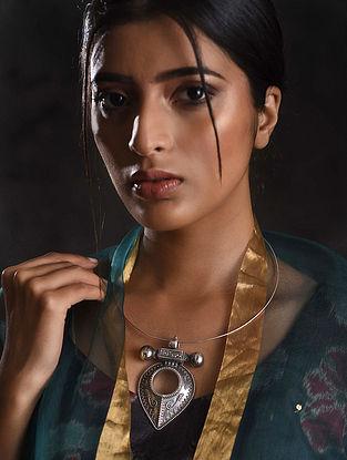 Vintage Tribal Silver Hasli Necklace