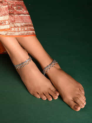 Silver Tone Tribal Anklets