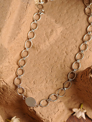 Oval Sterling Silver Men's Neck Chain