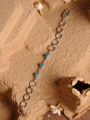Turquoise Silver Men's Bracelet