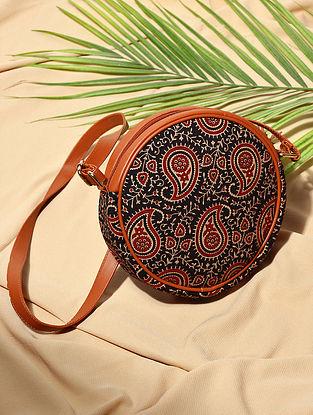 Black Handcrafted Cotton Sling Bag