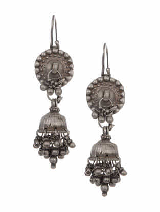 Vintage Tribal Silver Earrings