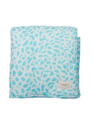 Soli Aqua Blue Quilt(L-60in,W-90in)