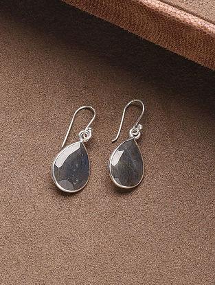 Blue Silver Handcrafted Earrings